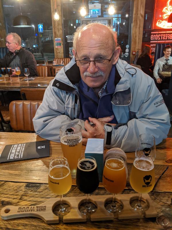 Dad in Brewdog, Union Square