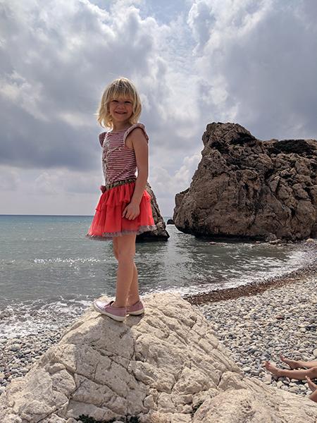 Sofia at the beach