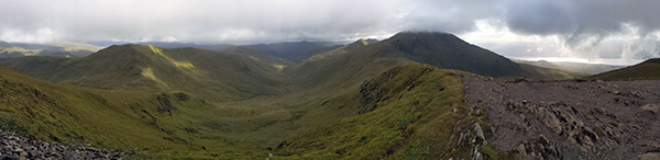 Panorama, West to East, with Ben Lawers middle right