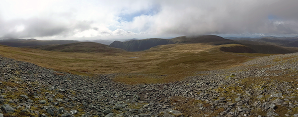 Looking across to Glas Maol from Cairn of Claise