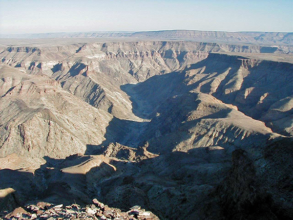 The majestic Fish River Canyon