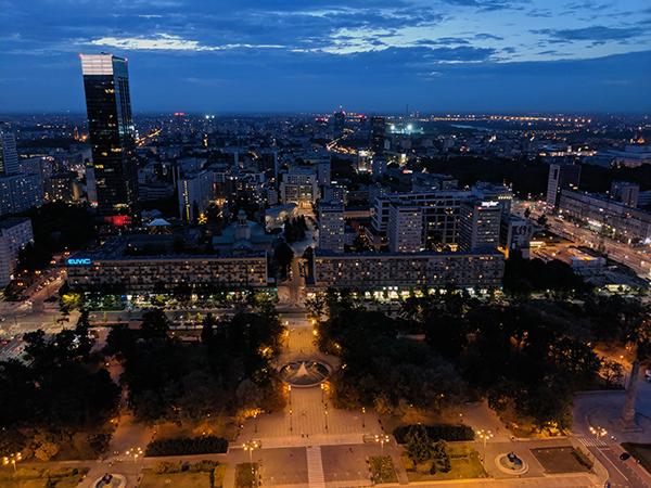 Warsaw at night