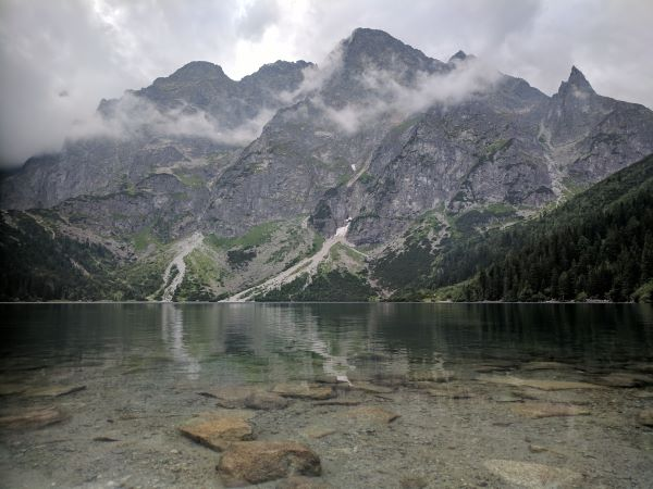 The beautiful Morskie Oko, in the heart of the Tatra's